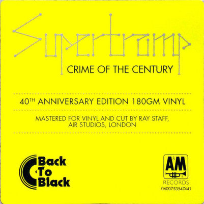 Supertramp Crime Of The Century (40th) (LP) Audiophile Qualität