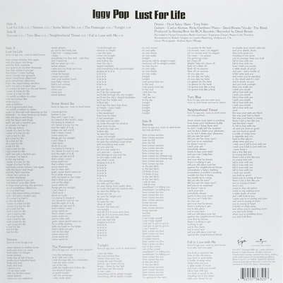 Iggy Pop Lust For Life (Vinyl LP)