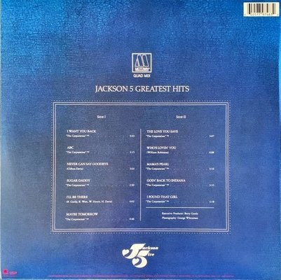 The Jacksons Greatest Hits - Quadrophonic Mix (Vinyl LP)