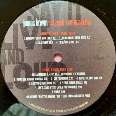James Brown Say It Live And Loud: Live In Dallas 08.26.68 (2 LP)