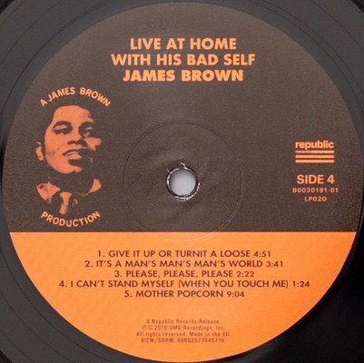 James Brown Live At Home With His Bad Self (2 LP)