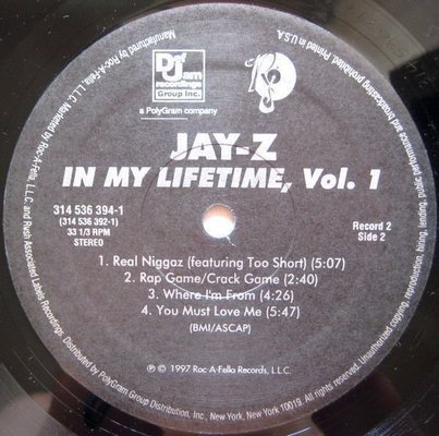 Jay-Z In My Lifetime Vol.1 (2 LP)