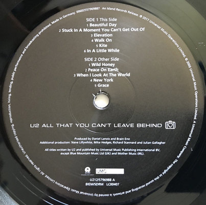 U2 All That You Can't Leave (Vinyl LP)
