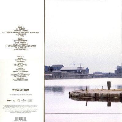 U2 October (Remastered) (Vinyl LP)