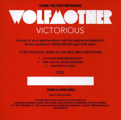 Wolfmother Victorious (Vinyl LP)