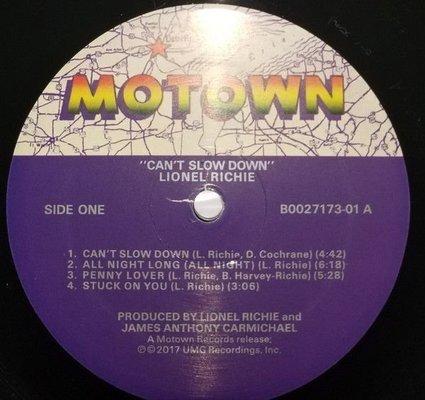Lionel Richie Can'T Slow Down (Vinyl LP)