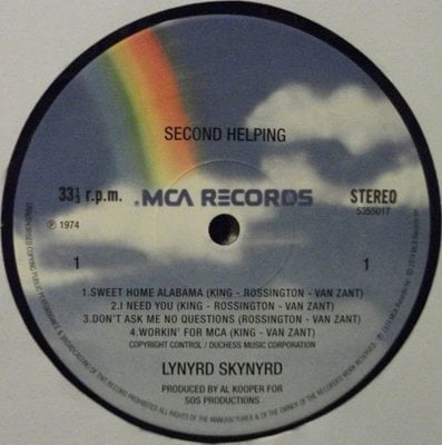 Lynyrd Skynyrd Second Helping (12'' Vinyl LP)
