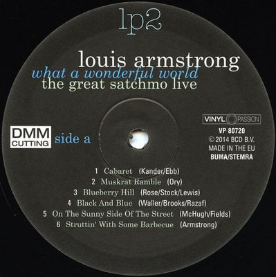 Louis Armstrong Great Satchmo Live/What a Wonderful World Live 1956-1967 (2 LP)