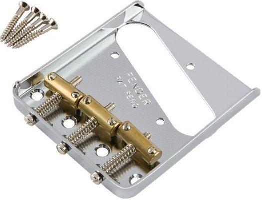 Fender 3-Saddle American Vintage Telecaster Bridge Assembly with Brass Saddles Chrome