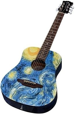 Luna Starry Night Travel Guitar