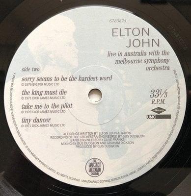 Elton John Live In Australia With The (2 LP)