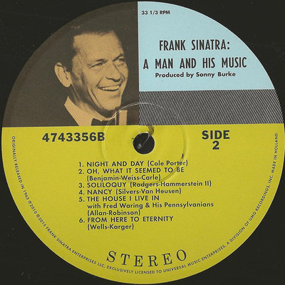 Frank Sinatra A Man And His Music (2 LP)