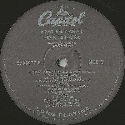Frank Sinatra A Swingin' Affair (Vinyl LP)