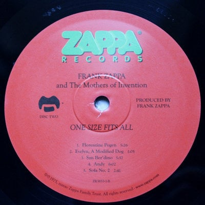 Frank Zappa One Size Fits All (Vinyl LP)