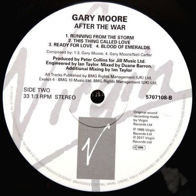 Gary Moore After The War (Vinyl LP)