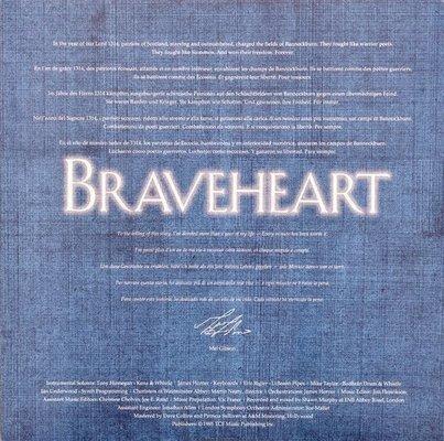 Braveheart Original Motion Picture Soundtrack (James Horner) (2 LP)