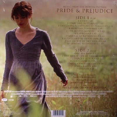 Pride & Prejudice Music From The Motion Picture (Vinyl LP)