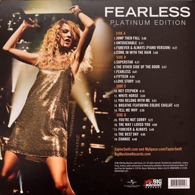 Taylor Swift Fearless (2 LP)