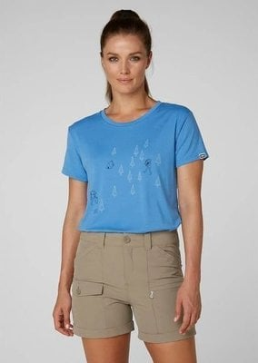 Helly Hansen W Skog Graphic T-Shirt Cornflower L