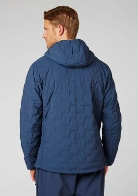 Helly Hansen Lifaloft Hooded Stretch Insulator Jacket North Sea Blue M