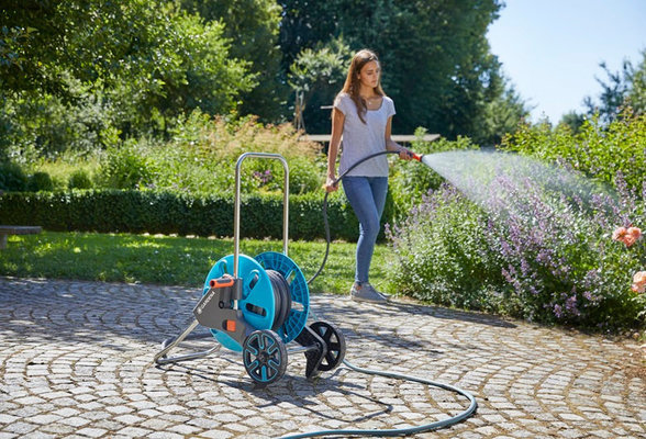 Gardena Textile Hose Liano 15 m Set with watering Sprayer