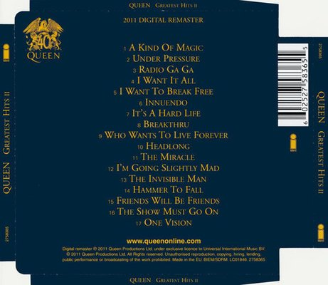 Queen Greatest Hits II. (CD)