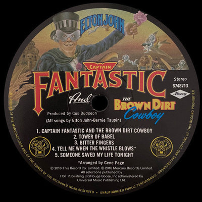 Elton John Captain Fantastic And... (Vinyl LP)
