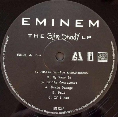 Eminem The Slim Shady (2 LP)