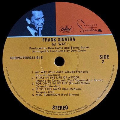 Frank Sinatra My Way (Vinyl LP)