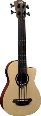 LAG TKB-150CE Tiki Uku Mini Bass Cutaway Acoustic Electric