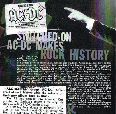 AC/DC Back In Black (Remastered) (Digipak CD)