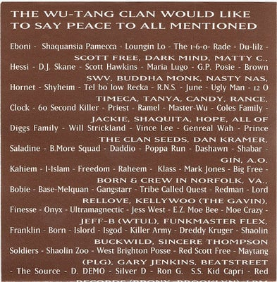 Wu-Tang Clan Enter The Wu-Tang (CD)