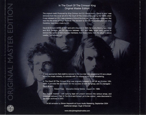 King Crimson In the Court of the Crimson King (CD)