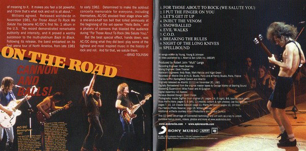AC/DC For Those About To Rock Muzyczne CD