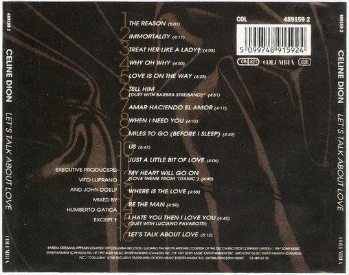 Celine Dion Let's Talk About Love (CD)