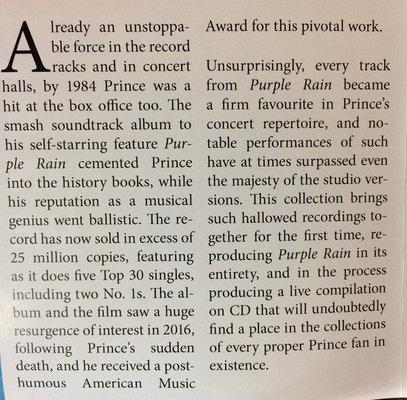 Prince Purple Rain Live (CD)