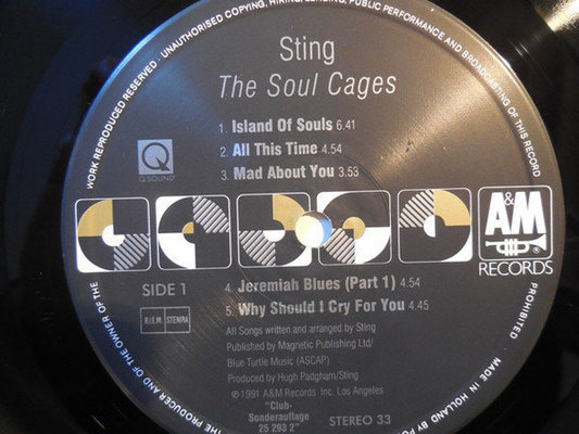 Sting Soul Cages (Vinyl LP)