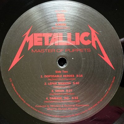 Metallica Master Of Puppets (Vinyl LP)