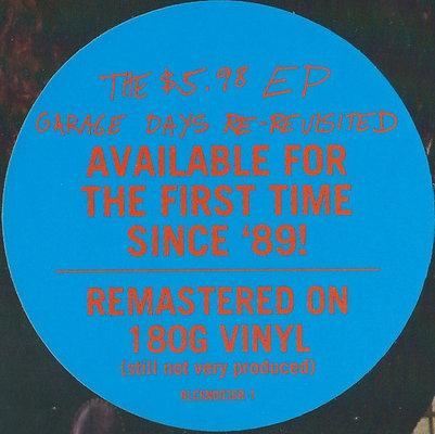 Metallica The $5.98 E.P. - Garage Days Re-Revisited (Vinyl LP)