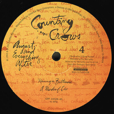 Counting Crows August And Everything After (200g Remastered) (2 LP)