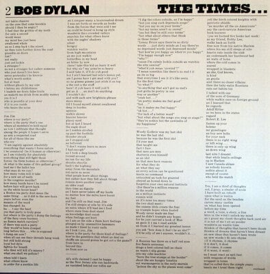 Bob Dylan Times They Are a Changing (Vinyl LP)