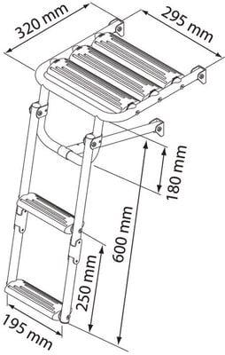 Nuova Rade Foldable Ladder - Inox