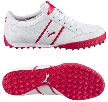 Puma Monolite Cat Womens Golf Shoes White/Rose Red UK 4,5