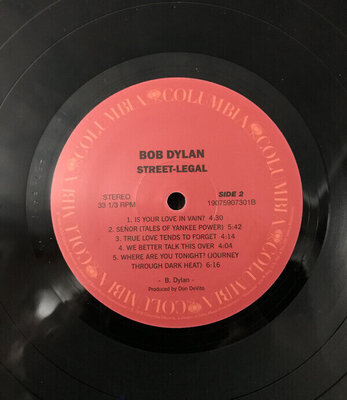 Bob Dylan Street Legal (Vinyl LP)