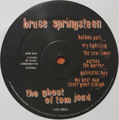 Bruce Springsteen Ghost of Tom Joad (Vinyl LP)
