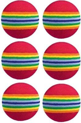 Longridge Multicoloured Foam Ball 6 Pk