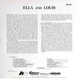 Louis Armstrong Ella and Louis (Ella Fitzgerald and Louis Armstrong) (2 LP)