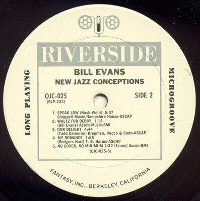 Bill Evans New Jazz Conceptions (LP) Nové vydanie