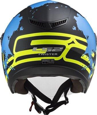 LS2 OF573 Twister II Xover Matt Black Blue L