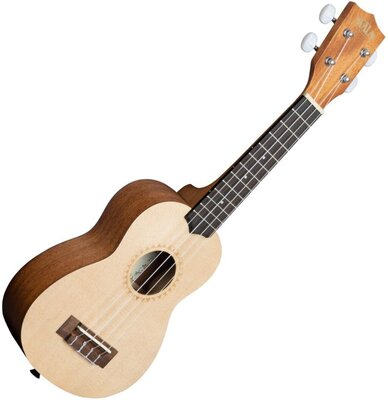 Kala KA-15S-S Satin Mahogany Spruce Top Soprano Ukulele with Bag